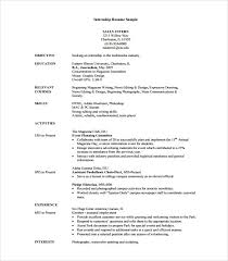 download free sample resume internship sample resume template 7 download free documents in pdf