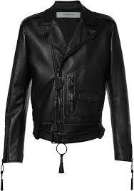 off white off white giorgio de chirico biker jacket