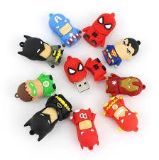<b>Cartoon Pendrive</b> U Disk America Captain <b>Superman</b> Spiderman ...