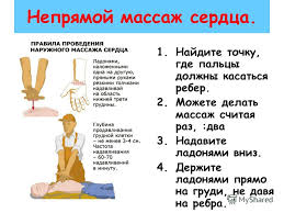 Презентация на тему Оказание первой помощи при остановке дыхания  4 Непрямой массаж сердца