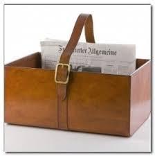 Leather magazine rack 15