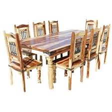 dallas clic solid wood rustic dining room table