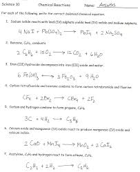 practice writing chemical equations from word equations you word equations worksheet