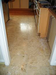 Travertine For Kitchen Floor Travertine Tiled Kitchen Floor Maintained In Stockport Greater