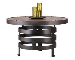 coffee table round industrial vintage