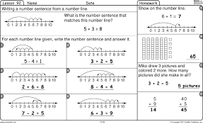 math worksheet is from excel math first grade lesson 92 : Kelpies