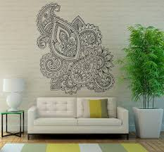 Small Picture Mehndi Wall Vinyl Decal Mandala Lotus Stickers Art Design Murals