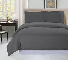 3 piece duvet cover set queen gray duvet cover plus 2 pillow shams luxury soft hotel quality wrinkle fade and stain resistant by utopia bedding