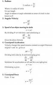 a level physics formula sheet circular motion