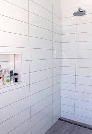 modern white tile shower. Brilliant Tile Long Rectangle Tiles Stacked Large Tile Bathroom Bathroom Shower Tiles  Laundry Intended Modern White E