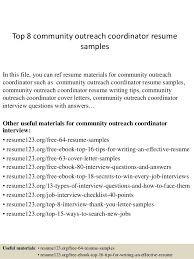 Community Outreach Specialist Sample Resume Beauteous Community Outreach Coordinator Resume] 44 Images Community