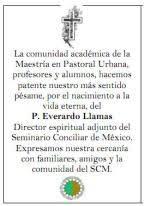 P. Everardo Llamas – Coordinación de Pastoral Urbana