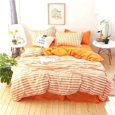 g stripe white orange set duvet cover pillowcases bed sheet linen twin queen king size
