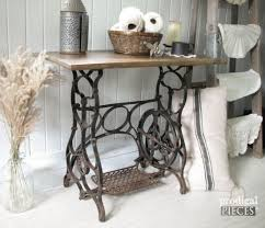 antique treadle sewing machine repurposed with early 1900 s barn wood using weatherwood sn by prodigal pieces
