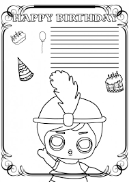 Have them color and decorate the card, fold it in half on the line, and write a note inside. Happy Birthday Coloring Card New Collection 2020 Free Printable