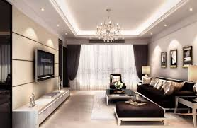 Modern Living Room Wall Decor Interior Decoration Living Room Rendering With Tv Wall Sofa And