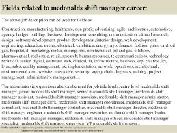 top  mcdonalds shift manager interview questions and answers       fields related to mcdonalds shift manager