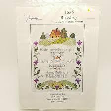 Diane Arthurs Cross Stitch Designs Counted Cross Stitch Kit Home Family Blessings Diane Arthurs 1556 Imaginating
