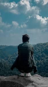 man lonely megha hills 4k ultra hd mobile wallpaper