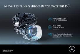 Iebūvētais startera ģenerators apvieno starteri un ģeneratoru vienā jaudīgā elektrodzinējā (16 kw/22 zs) un atbalsta iekšdedzes dzinēju (boost funkcija) paātrinājuma laikā. Even More Dynamic And Efficient The New E Class With 48 Volt Technology And Isg Eq Boost The Whole Family Electrified Mercedes Me Media