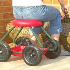gardening stool on wheels chair for elderly people seat with o gardening stool