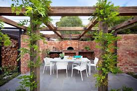 Small Picture Vine covered pergola entertaining area with pizza oven Design Ian