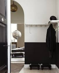 White And Black Half Painted Room Ideas