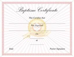 Sample Baptism Certificate Template Stunning 48 Images Of Baptism Certificate Template Translater Leseriail