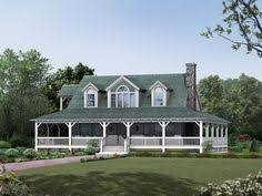 Small Picture Dormered farmhouse with green metal roof and wrap around porch