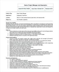 Job Description Director Of Engineering – Resume Example Collection