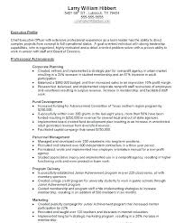 Achievement Resume Examples