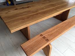 timber slab dining table