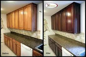 How Restain The Kitchen Cabinets To Restain Kitchen Cabinets Darker Best  Gallery Rhrachelxblogcom Refinish Your Kitchens