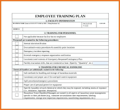 new hire training plan template. Employee Training Plan Template Impression Schedule Word Document
