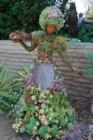 Small Picture garden sculptures yourself make woman dress succulent hair garden