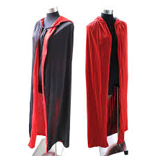 <b>Cloak Cape</b> Hooded <b>Costume</b> Adult Red/Black Duplex <b>Halloween</b> ...