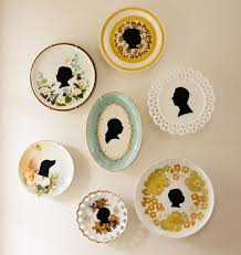 beautifully rooted silhouette plates uses thrifted plates and black contact paper black contact paper project