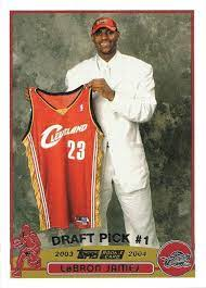 Lebron's cards span 2 decades now so he has some from upper deck & topps and others from panini. Amazon Com 2003 04 Topps Basketball 221 Lebron James Rookie Card Collectibles Fine Art