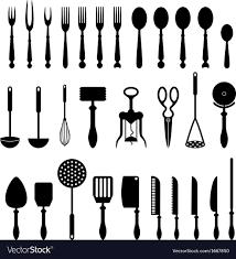 kitchen utensils silhouette vector free. Kitchen Utensil Vector Image Utensils Silhouette Free I