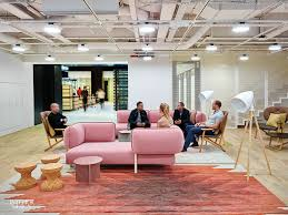Office interior design london Fit Out Sofas By Patricia Urquiola Meet Stools By Jasper Morrison In Lounge Photography By Timothy Soar Pinterest At Googles London Office Ahmm Overturns Decades Of Workplace Norms