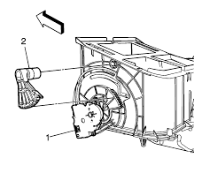 Disconnect the electrical connection at the mode actuator 1