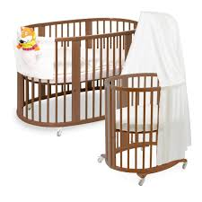 master round crib brown wooden charming baby furniture design ideas wooden