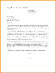 College Student Cover Letter For Resume Sample Cover Letter For College Student Adriangatton 18