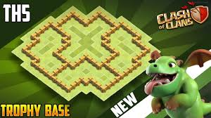 The Best Base Design For Clash Of Clans New Town Hall 5 Th5 Trophy War Base Design 2018 Coc Best Th5 Trophy Base Layout Clash Of Clans