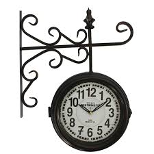 yosemite home decor black and white double sided wall clock bellacor number 1705734 yosemite home decor black and white double sided wall clock
