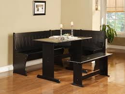 leather breakfast nook furniture. Modren Furniture Breakfast Nook Table And Chairs Dining Room Dark Set Color In Hardwood  Floor Throughout Leather Furniture