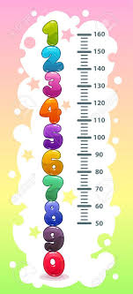 Kids Height Chart With Funny Cartoon Colorful Numbers