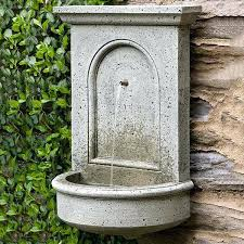 wall mounted fountain outdoor designs spouts