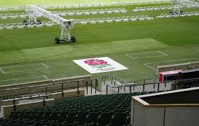 rugby twickenham stadium artificial grass logo mat rugby installation stm world
