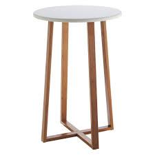 tall round nightstand photo 1